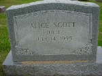 alice scott  died july 14  1955  b  abt  1875   d  july 14  1955
